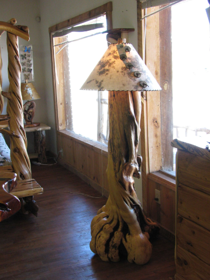 Juniper Burl Floor Lamp