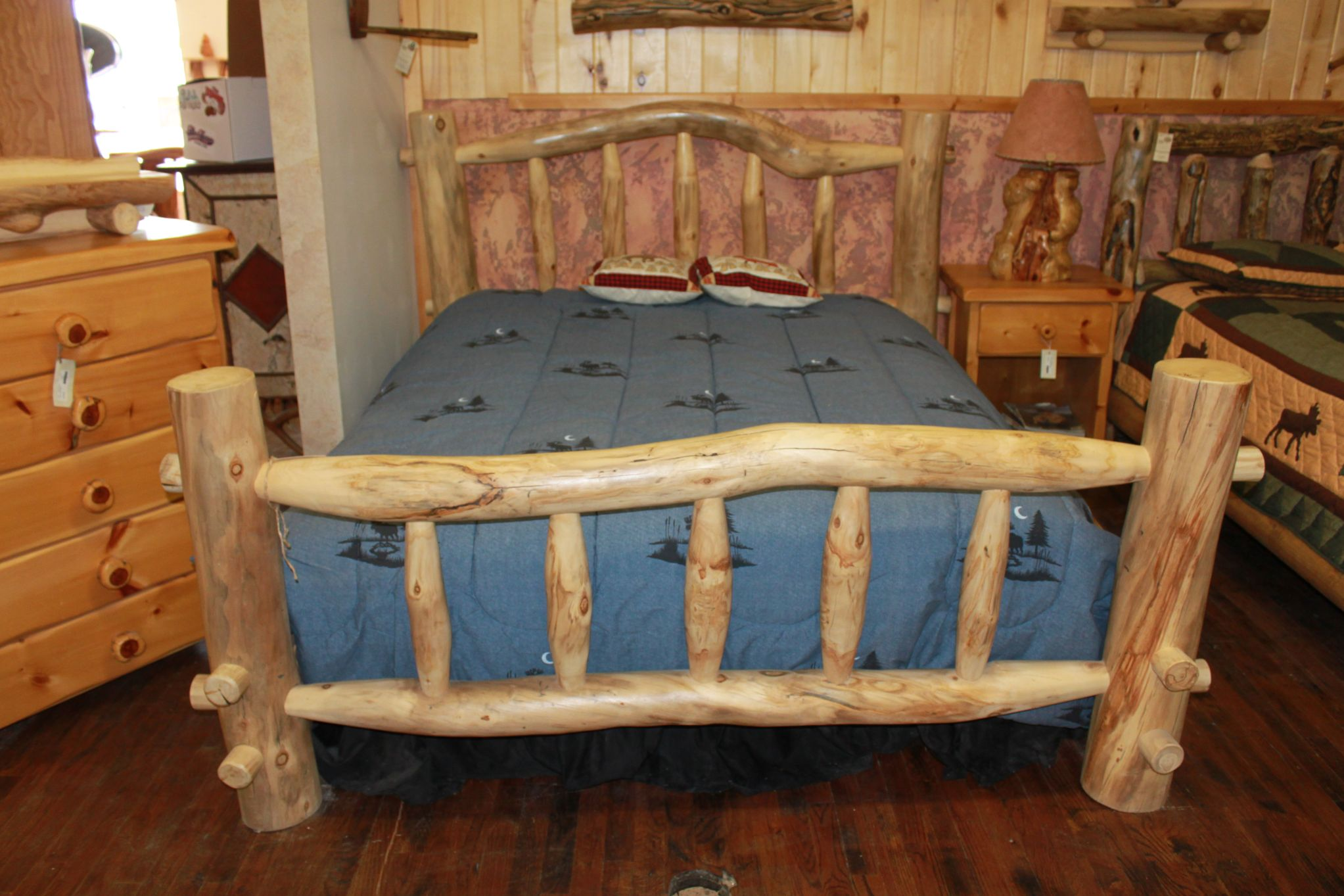 log style bed frames